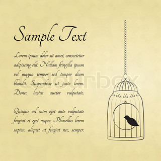 Bird in cage card