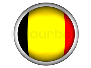 National Flag of Belgium  Button Style