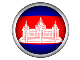 National Flag of Cambodia  Button Style