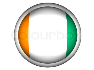 National Flag of Cote d'Ivoire  Button Style