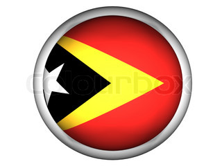 National Flag of East Timor  Button Style
