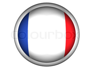 National Flag of France  Button Style