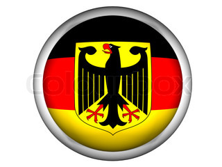 National Flag of Germany  Button Style