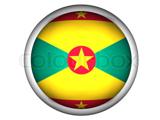 National Flag of Grenada  Button Style