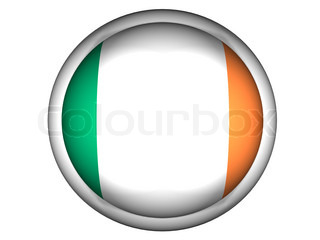 National Flag of Ireland  Button Style