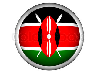 National Flag of Kenya  Button Style
