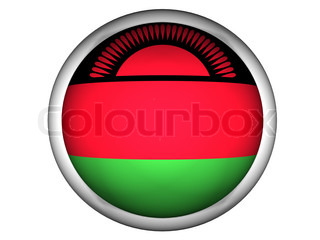 National Flag of Malawi  Button Style