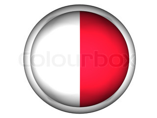 National Flag of Malta  Button Style