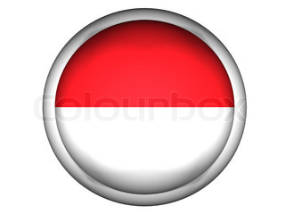 National Flag of Monaco  Button Style