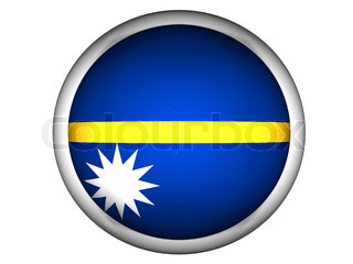 National Flag of Nauru  Button Style