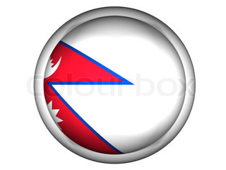 National Flag of Nepal  Button Style