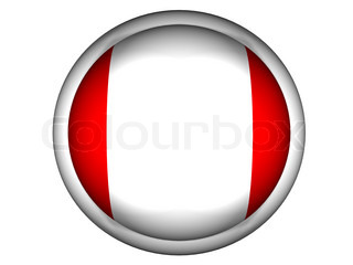 National Flag of Peru  Button Style