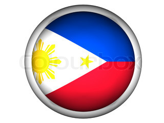 National Flag of Philippines  Button Style