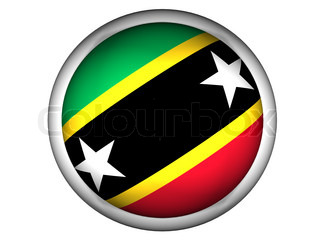 National Flag of Saint Kitts and Nevis  Button Style