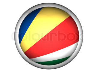 National Flag of Seychelles  Button Style