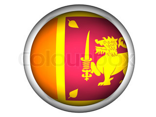 National Flag of Sri Lanka  Button Style