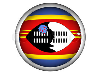National Flag of Swaziland  Button Style