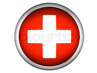 National Flag of Switzerland  Button Style