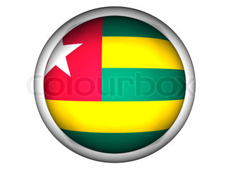 National Flag of Togo  Button Style
