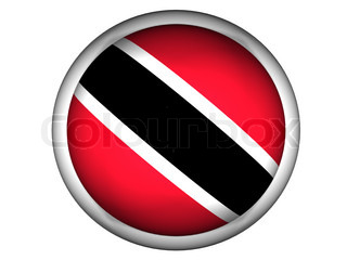 National Flag of Trinidad and Tobago  Button Style