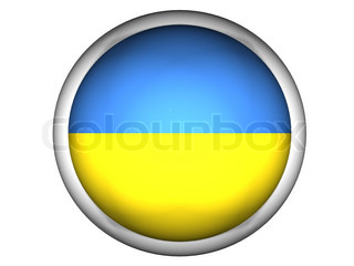 National Flag of Ukraine  Button Style