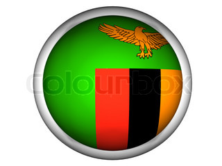 National Flag of Zambia  Button Style