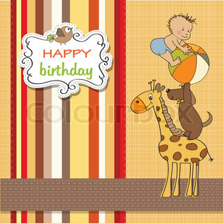 funny cartoon birthday greeting card