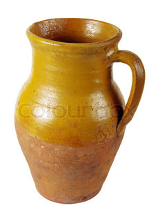 Clay pot of manual work It is possible to store milk or other liquid