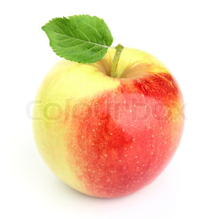 Sweet apple with leaf