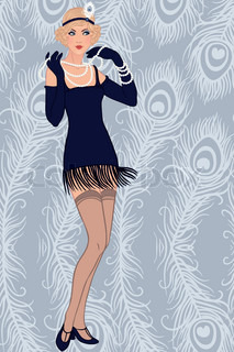 Flapper blond girl