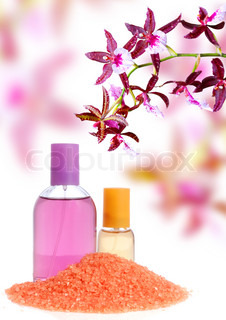 Perfume, salt and orchid
