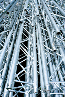 Metal pipes in a stack