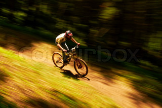 Extreme mountain bike competition