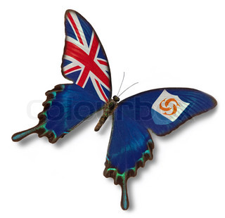 Anguilla flag on butterfly