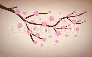 Illustration of a grunge Cherry blossom abstract background
