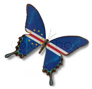 Cape Verde flag on butterfly