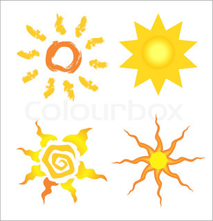 Stock vector of cartoon suns.Sunny vector,illustrations.Sun.