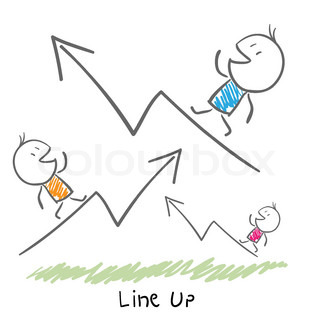 Conceptual illustration of the growth of the business Line up