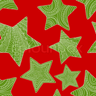 Abstract christmas background with stars Vector illustration