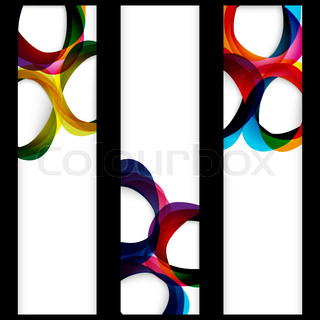 Web abstract banner with forms of empty frames