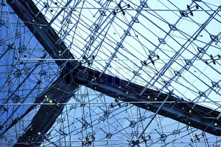Metal structure, urban abscract background, texture