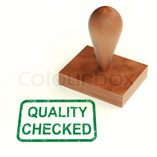 Quality Checked Stamp Shows Product Tested Ok