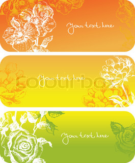 Flowers banners