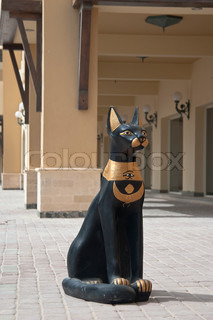 Egyptian Sacred Cat Statuette on the street