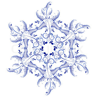 Russian ornaments New Year's snowflake