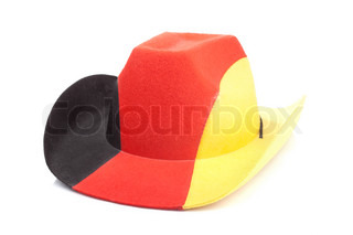 Cowboy hat with German flag