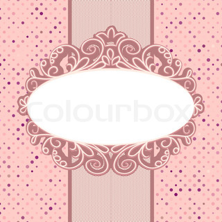 Vintage card template with copy space EPS 8