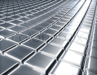 Abstract 3D embossed metal surface industrial background
