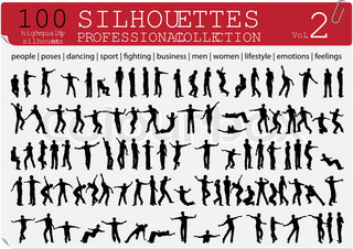 100 Vector Silhouettes Professional Collection Vol 2