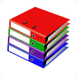 pile files for office on white